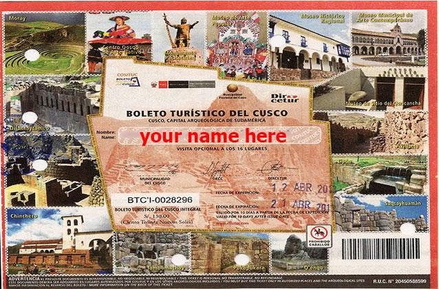 10-tägiges Touristenticket von Cusco
